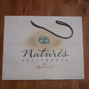 Hallmark Natures Sketchbook Shopping bag